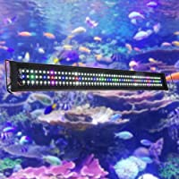 "Yescom Multi Color Aquarium Light 156 Bright SMD5730 LED Lighting Over-Head Lamp 115-127cm(45-50"") Fish Tank"