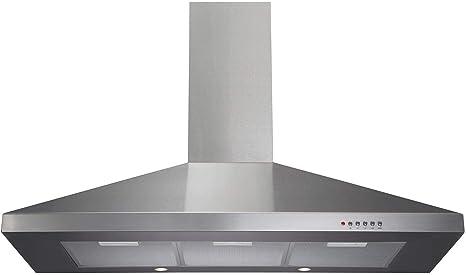 Extractor de campana de cocina (100 cm) ECH101 de CDA metalizado: Amazon.es: Grandes electrodomésticos