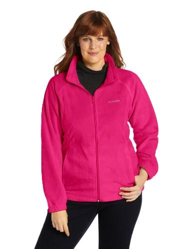Columbia Women's Plus-Size Benton Springs Full-Zip Fleece Jacket XXXXL Deep Blush