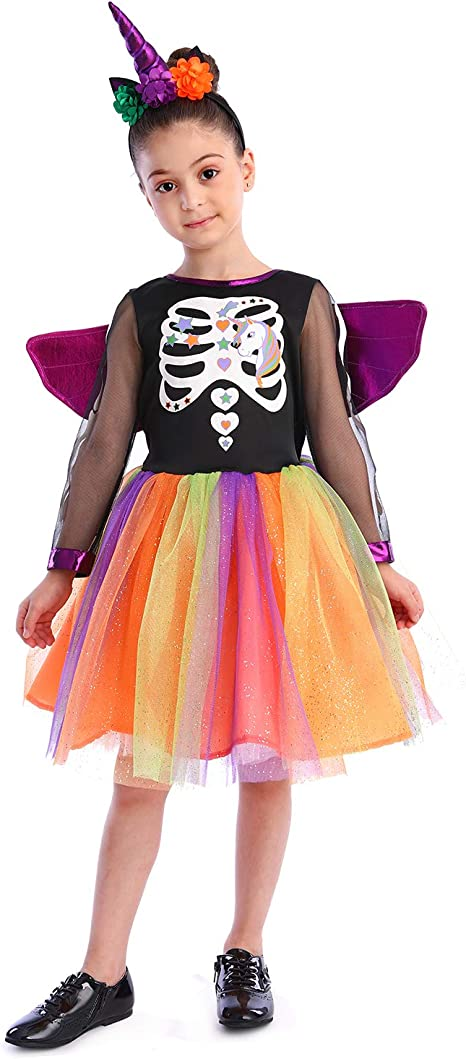 Sincere Party Disfraz de Bruja de Esqueleto de Unicornio para ...