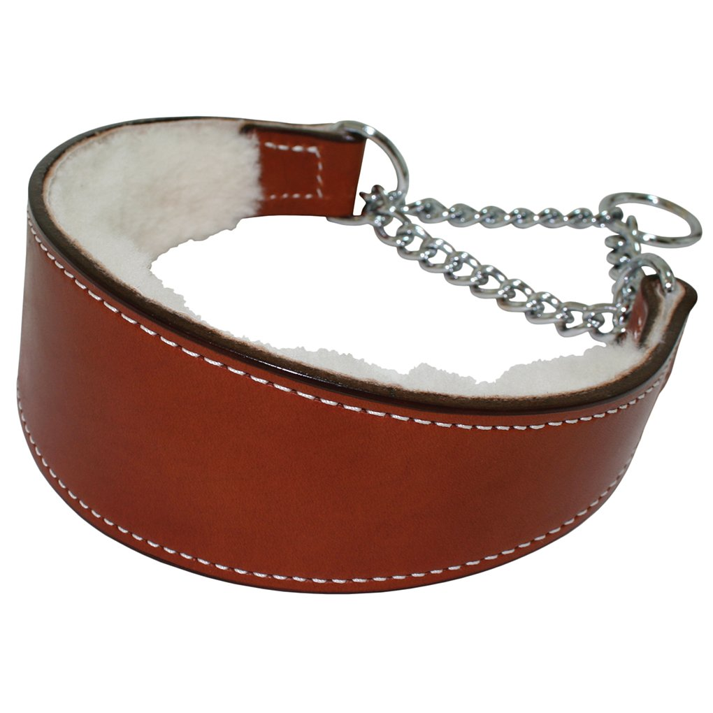 Martingale Collar Within Shearling 1-1 4  X 10  TAN