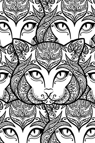Color My Cover Halloween Journal - Halloween Cat: 100 page 6
