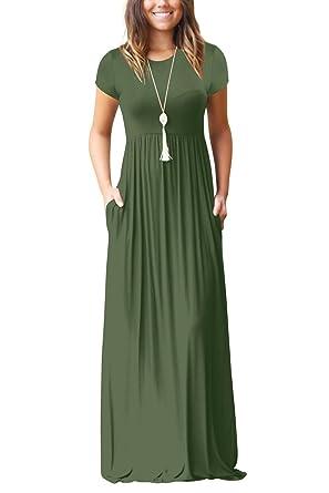 Minetom Donna Elegante Girocollo Manica Lunga Vestito Lungo Casual Sciolto  Tinta Unita Maxi Abito Da Sera Cocktail A-Line Dress  Amazon.it   Abbigliamento 3c0a7fa1398