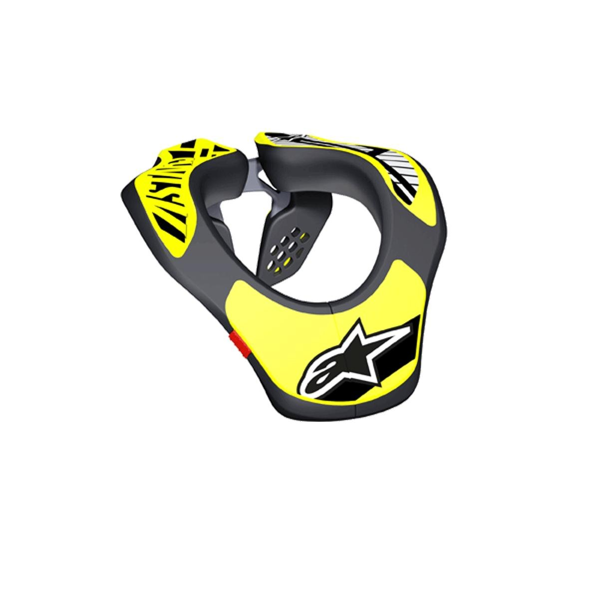 Alpinestars Youth Neck Support Nero Giallo Fluo Os 1