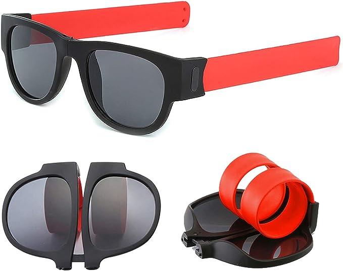 Donne Uomini Pieghevoli Occhiali da Sole Eyeglasses,Silicone Arm Eyewear,Driving Beach Sports Occhiali Uomo Donna Occhiali Braccialetto del Silicone