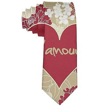 Corazón rojo Flores vintage Corbata del día de San Valentín y del ...