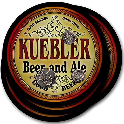 Kueblerビール& Ale – 4パックドリンクコースター   B003QUYGEC