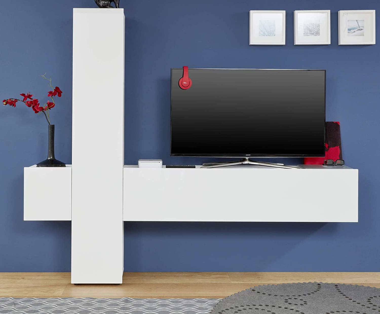 Primelife4you - Mueble de Pared para televisor, Color Blanco Brillante 223/191/34 cm 70 Pulgadas.: Amazon.es: Juguetes y juegos