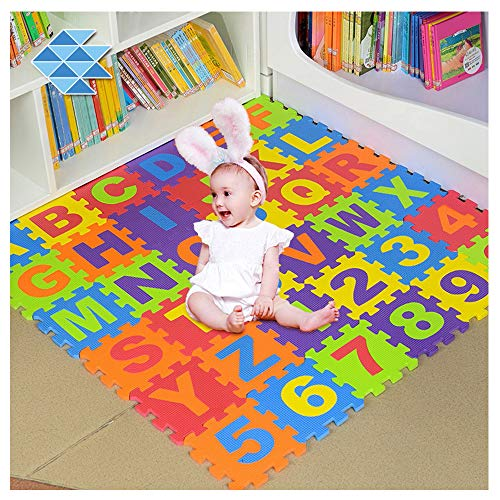 Foam Play Mats for Toddlers ABC Floor Puzzle Non Toxic 36 Tiles 3-6 Years Kids (Mat Puzzle Foam Alphabet Floor)