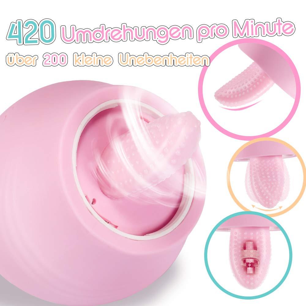 Fondlove Zunge Vibrator Klitoris Brust Stimulator Sauger Brustsauger Vibratoren für sie mit 5 Saugintensitäten 7 Vibrationsstufen Orgasmus Sexspielzeug für Frauen