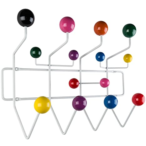 Poly and Bark Sphere Steel Wall Mount Coat Rack