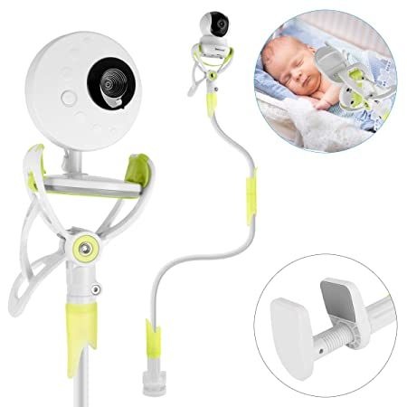 GHB Soporte para C/ámara de Vigilabebes Soporte Universal con Palo Flexible para Fijar la C/ámara de bebe