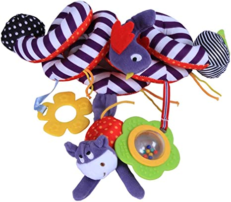Animals Baby Activity Spiral Stroller/&Car Seat Toys Cot Bed Pram Cute US