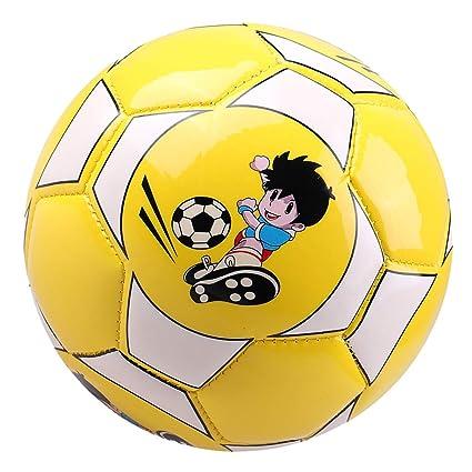 Toygogo Balón de Fútbol de Cuero Pelota de Fútbol Adulto Niños ...