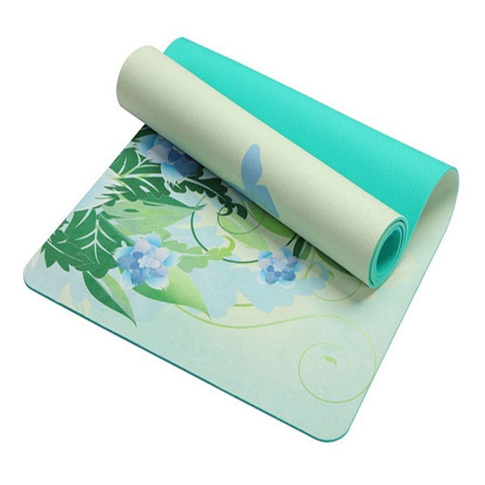 SLGJYY Lotus-Muster Wildleder Material Rutschfeste Yoga-Matte 5mm Für Fitness Abnehmen Multifunktions Auch Für Gym Sport Camping Übung