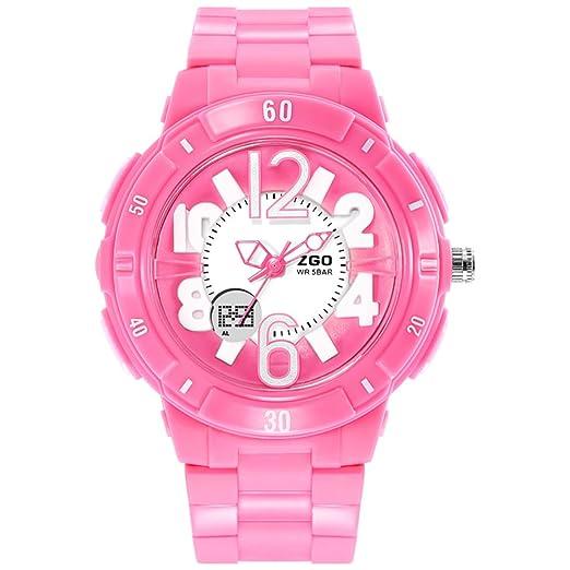 niñas ven/Simple chicas lindas impermeabilizan relojes digitales-rosa: Amazon.es: Relojes