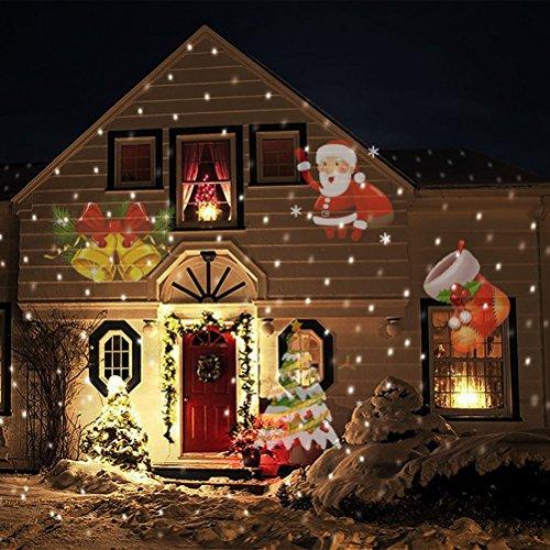 SMITHROAD LED Projektionslampe 12 Verschiedene Muster Strahler für Halloween Karneval Weihnachten Innen & Außen Garten Wand Beleuchtung IP65