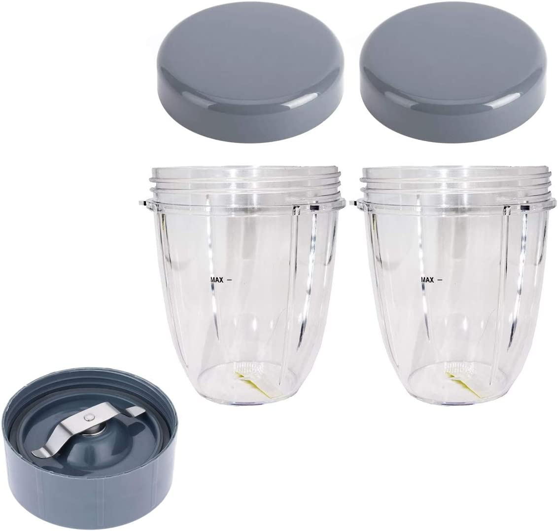 Flip Top To Go Lid with 18oz Cup and Milling Blade Extractor Blade, Compatible with Nutribullet 600W 900W Blender Juicer