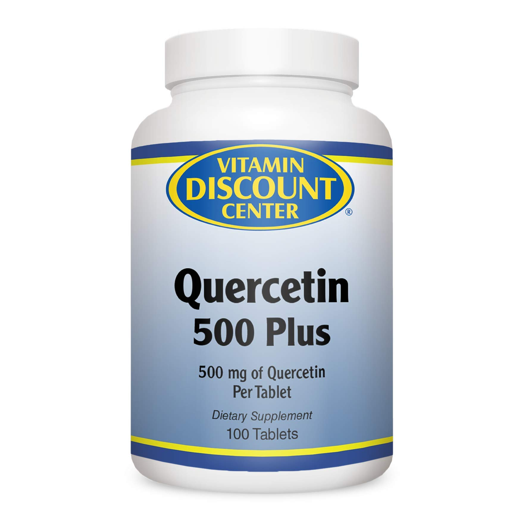 Vitamin Discount Center Quercetin 500 Plus, with Vitamin C, Bromelain and Turmeric, 100 Tablets by Vitamin Discount Center