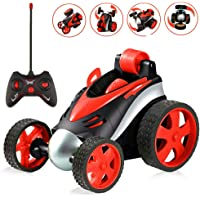 WenToyce Kids RC Stunt Cars Toys, Remote Control Car Stunt Vehicle High Speed 360 Degree Rotation Flip Racing Car Upright Driving Christmas Birthday Gifts Gadgets Toys for Boys Girls (Red)