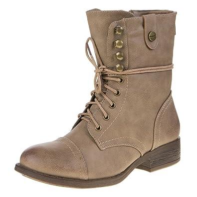 Damen Schuhe, STIEFELETTEN, USED LOOK SCHNÜRER BOOTS, 799, Synthetik in  hochwertiger Lederoptik 94a5a92a1f