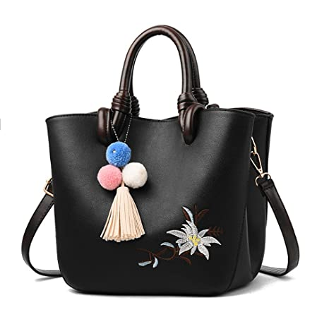 852a9777e863 Chic-Dona Classic Leather Women Handbags Tassel Embroidery Women Messenger  Bags Brief Elegant Ladies Tote