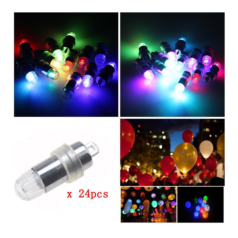 LED Ballon Lichter, PChero 24-Pack Mini LED Batteriebetrieben Blinzeln Party Lichter für Ballons (RGB)