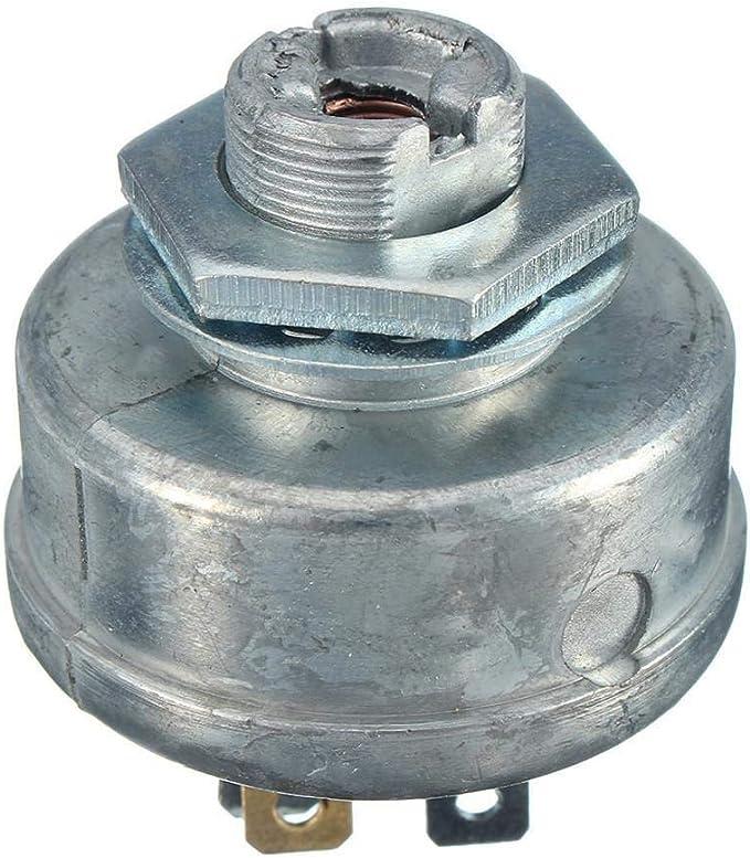 MQEIANG Segadora de Encendido de Arranque 5 Spade Terminal Interruptor de Arranque del Motor con Llave for Husqvarna 725-0267 725-0267A césped del jardín (Color : White)