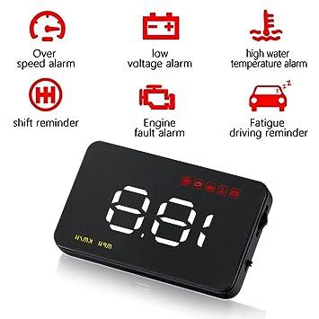 Wenbest - Pantalla digital de advertencia de velocidad para coche, GPS: Amazon.es: Electrónica