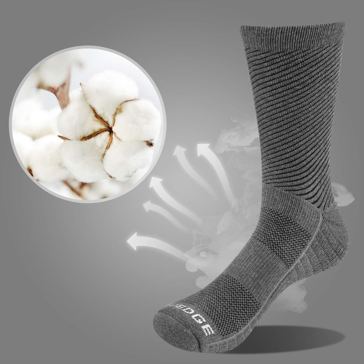 YUEDGE 5 Paires Homme Chaussettes de Randonn/ée pour Trekking Camping Cyclisme Tennis Respirantes
