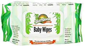 Bum Boosa Bamboo Baby Wipes - 80 Ea, 5 Pack