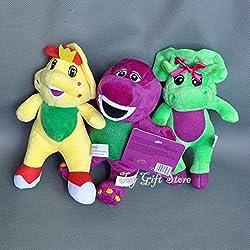 gg Cute 3PCS barney & Friend Baby Bop BJ Plush Doll Toy 7 New