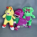 "gg Cute 3PCS barney & Friend Baby Bop BJ Plush Doll Toy 7"" New"