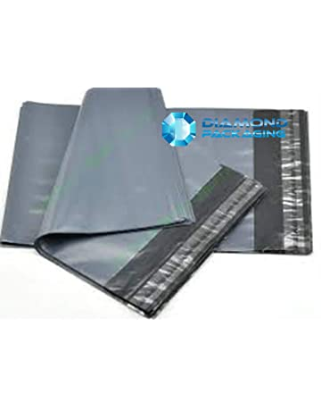 Diamond Packaging® 100 Mixed Grey Plastic Mailing Mail Post Postage Bags 92b086d921217