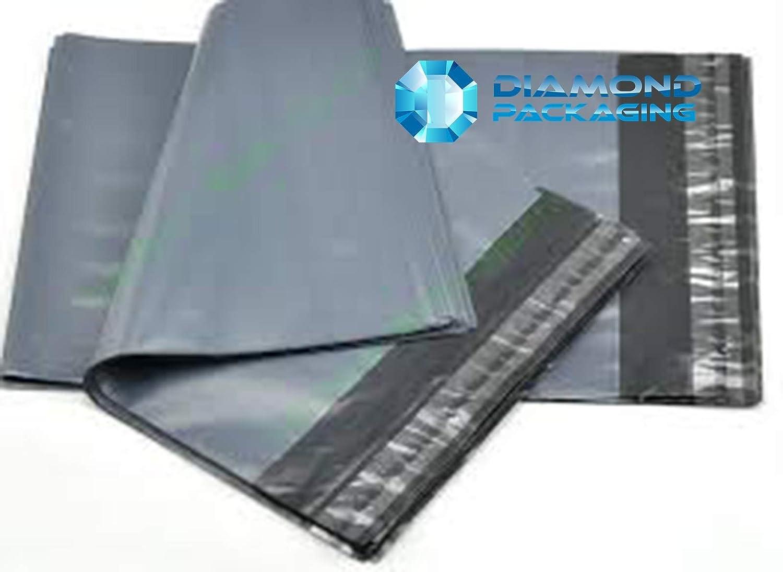 Dhoole Lot de 100 sacs d'expé dition en plastique Gris Ram mailingbagsmixed100