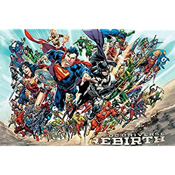 Justice League of America - JLA - Comic Poster/Print (DC Universe Rebirth) (Size: 36 inches x 24 inches)