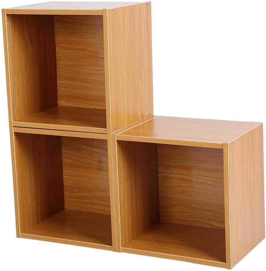 Estink - Estantería de 3 Cubos, estantería con Forma de Escalera, Mueble librería Moderna, estantería de aglomerado, 60 x 60 x 24 cm: Amazon.es: Hogar