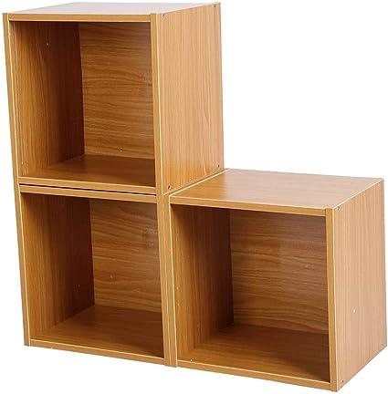 GOTOTP Estantería para Libros en Forma de Escalera Madera 3 en 1 Gabinete Combinado Librería Moderna Simple para el Hogar,60x24x60cm: Amazon.es: Hogar