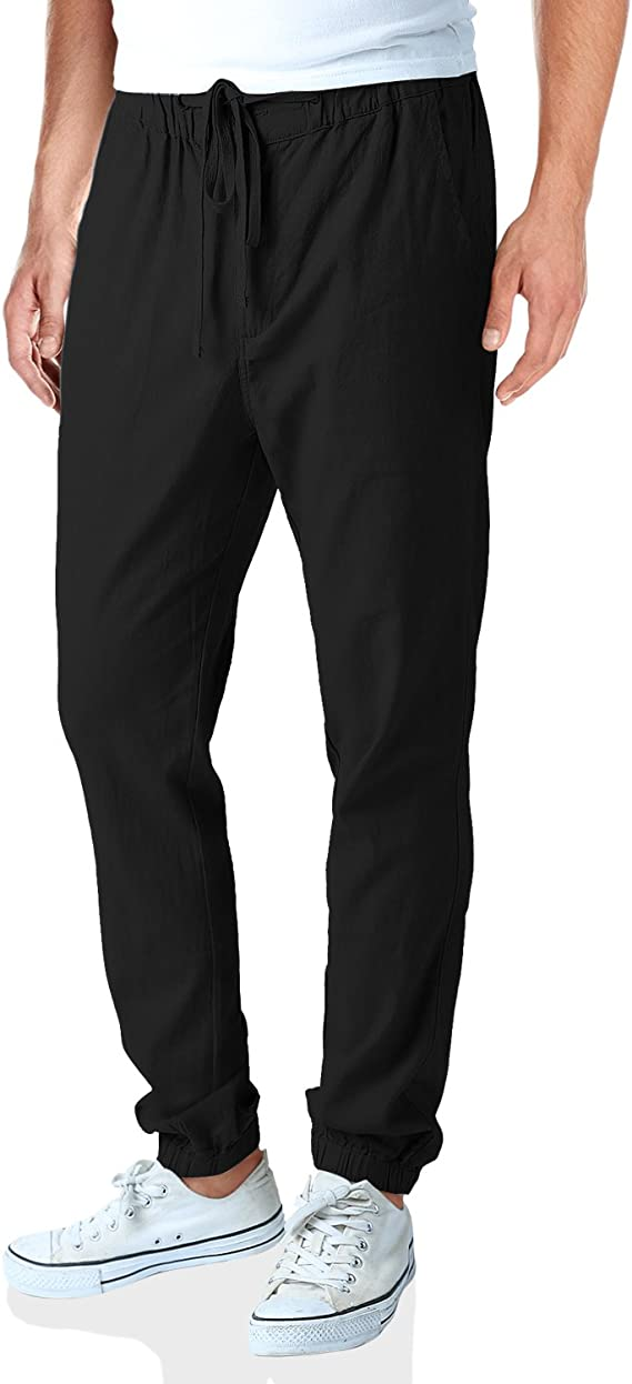 black sweatpants with drawcord