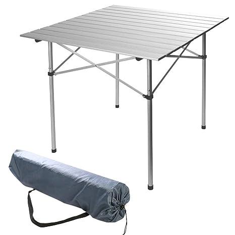Tavolo Campeggio Alluminio Avvolgibile.Hummelladen Tavolo Da Campeggio Pieghevole In Alluminio 70 X 70 X 70 Cm