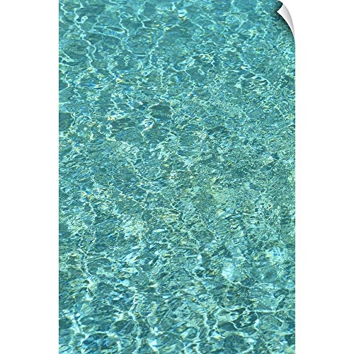 CANVAS ON DEMAND Carl Shaneff Wall Peel Wall Art Print Entitled Turquoise Water Reflections 12