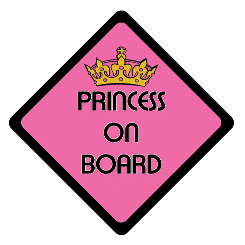 Princess On Board advertencia vehí culo de vinilo/Vinilo/adhesivo (a todo color) PnCGrafix