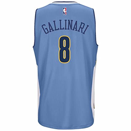 f4649ba13 adidas Danilo Gallinari Denver Nuggets NBA Blue Official Climacool Away  Road Swingman Jersey For Men (