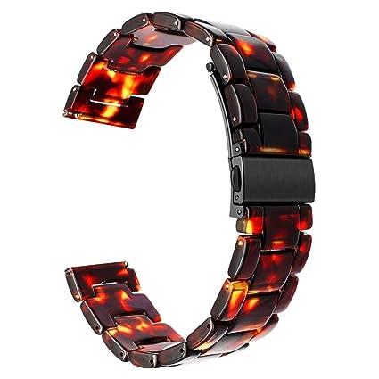 TRUMiRR Gear S3 Correa de Reloj, 22mm Reloj de Resina de liberación rápida Band