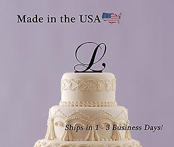 Monogram Cake Topper With FREE Keepsake Base Wedding Sweet
