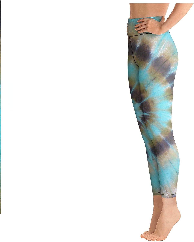 Womens Workout Running Legging Trippy Tie Dye Art Tummy Control Yoga Pants Gym