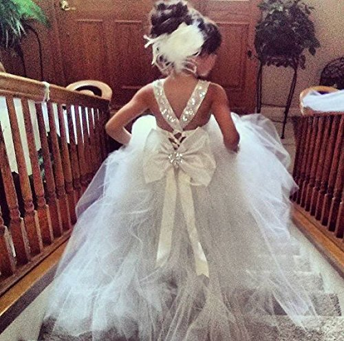 e07d33383f4e Amazon.com: Mini Bride Flower Girl Dress: Handmade