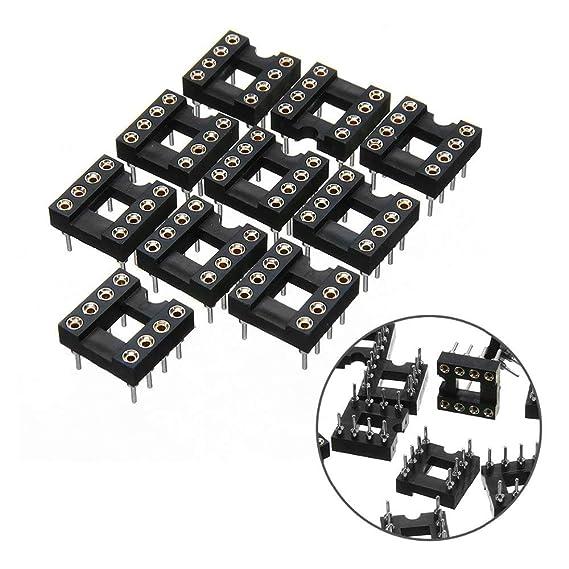 Amazon Com Afcn Mayitr 10pcs Gold Plated Round Hole Socket 8 Pins