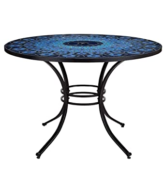 MARKS AND SPENCER BLUE MOSAIC BISTRO TABLE KATERINI PATIO OUTDOOR GARDEN. MARKS AND SPENCER BLUE MOSAIC BISTRO TABLE KATERINI PATIO OUTDOOR