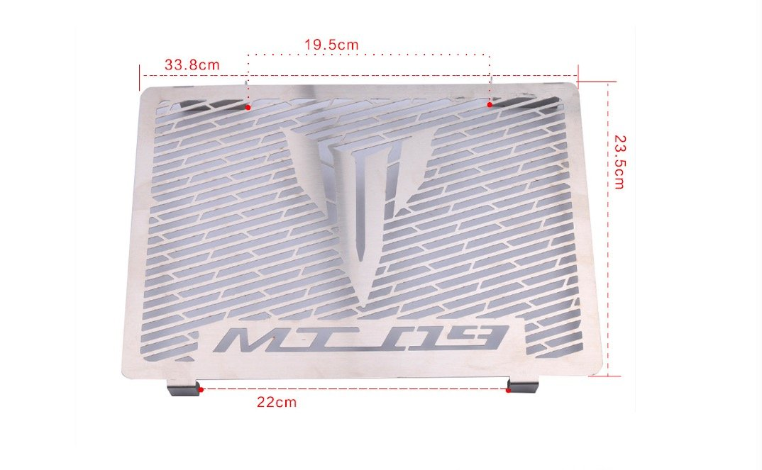 Radiator Grille Guard for MT09 2013 2014 2015 2016 2017 Water Cooler Guard radiator cover protector MADRACING